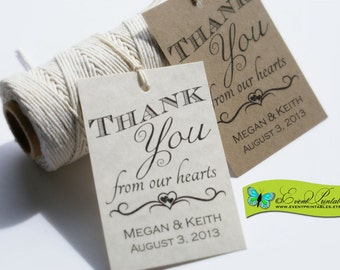 Printable Wedding Favor Tags. Personalized Wedding Favor Tags. Thank You Tags. Wedding Gift Tags. Custom Gift Tags by Event Printables