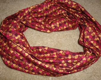 Autumn Leaves Infinity Scarf