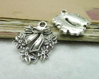 20 pcs 20x23mm The Bowknot flower  Silver color  Pendant Charm For Jewelry Pendant C7742
