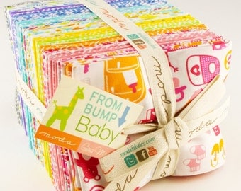 From bump To Baby fat quarter bundle by Gina Martin for Moda fabric