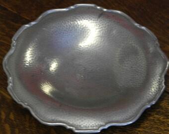 antique pewter fruit bowl serving bowl plate dish