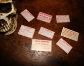 8 Antique New Old Stock Poison Labels