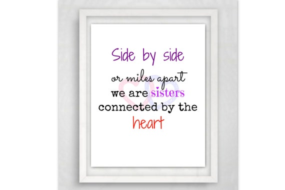 Gifts for sister quote art sister quote 8x10 wall art for Ideen englisch