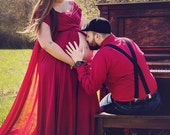 Custom Made Gown For Maternity Photography