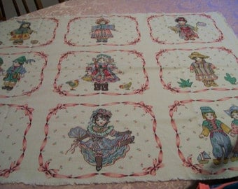 Vintage Dolls Pillow Pattern 9 Different Ethnic and Antique Dolls