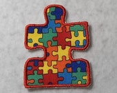 Autism Awareness Puzzle Piece (3 inch) MADE to ORDER - Choose COLOR - Tutu & Shirt Supplies - Iron on Applique Patch 6151