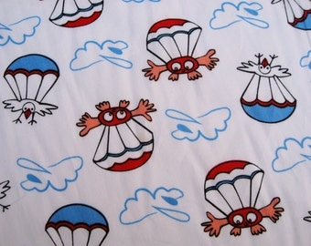 C065 - 1 meter  Cotton Fabric - Cartoon Charactor / Umbrella(150cm ,180g)