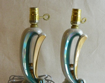 Pearlescent Wave Lamps