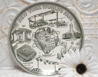 Mid Century Worlds Fair Plate New York 1964
