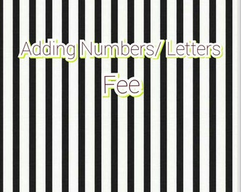 Adding  LETTERS or NUMBERS ONLY