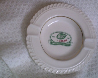 1961 Breyers Ice Cream Advertising Ashtray 95th Anniversary Harkerware