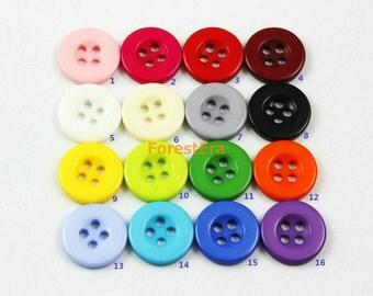 1 Set 470 Pieces 15mm Plastic Buttons Candy Colors Buttons (ZH27)