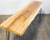 NEW: Live Edge Maple CONSOLE Table - Wood - Natural - Modern