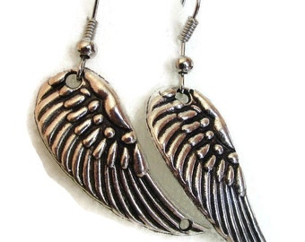 Angel Wings, Silver Wings, Earrings, Silver Wings Earrings, Wings, Angel, Silver Earrings,Black Friday Sale