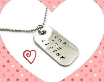SALE: One Day Closer, military jewelry, mini dog tag necklace, one day closer jewelry