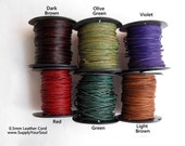 0.5mm LEATHER CORD 3 yards, Color Choices, Ready to Ship!