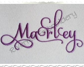 Samantha Script Alternate Set 1 Machine Embroidery Font Monogram Alphabet - 3 Sizes