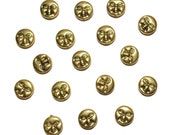 Shiny Brass Man In Moon Beads Lot of 17 Inspiration  Beads Craft Supplies Jewelry Supplies