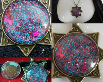 Must have! Shimmering purple fashion pendant!