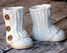 Crochet Pattern #112 Baby Wrap Boot  -  Instant Download - PDF