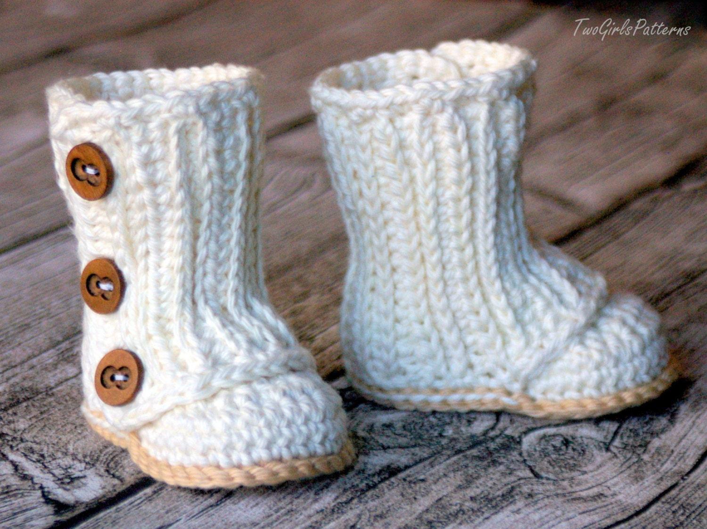 Crochet Baby Boots Free Pattern Ensas