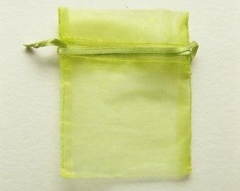 Set of 10 Citrus Organza Bags (4x6)