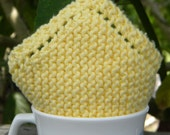 Knit dishcloth - washcloth- absorbent, durable, gentle on hands and face, 100% cotton- Yellow. Mix and Match. In stock.