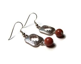 CLEARANCE...Goldstone Aztec Earrings
