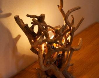 Aspen accent lamp  - Wood art - Modern rustic decor - Wood sculpture