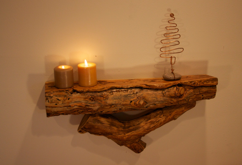 Aspen log shelf modern rustic decor rustic furniture for Aspen logs for decoration
