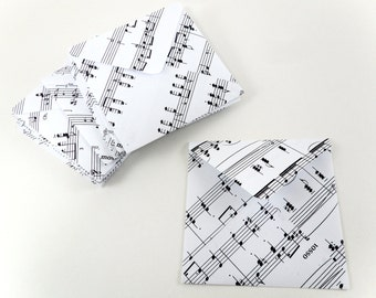 Musical Envelopes, Square Envelopes, Music Notes Envelopes, 3x3 Envelopes, Note Card Envelopes, Music Staff Envelopes, Musician Stationery