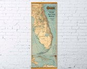 Old map of Florida - Archival map print - Florida East Coast Railway  -  A wonderful vintage map reproduction - Florida poster