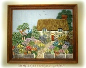 ENGLISH COTTAGE GARDEN( picture) knitting pattern by Georgina Manvell