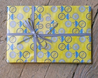 Cycling Wrapping Paper - cycling giftwrap - bike wrapping paper - gift for cyclist - bicycle wrapping paper - bike gift wrap