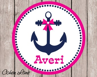 Printable Personalized Anchor iron on Tshirt Transfer Design.  Anchor Iron On Transfer.  Personalized iron on. Anchor Shirt.