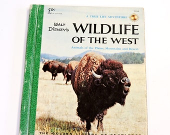 Wildlife of the West Book, Animals of the Plains Mountains Desert, 1958 Vintage Walt Disney Kids Wild Life Reference Book itsyourcountry