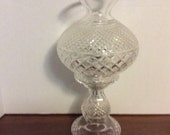 Waterford Crystal Hurricane Lamp Inishmore Vintage