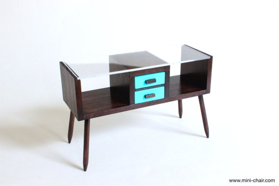 1 6 scale console table with drawers mid century by for 1 6 scale table