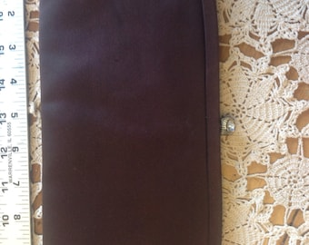Nice Vintage Chocolate Brown Purse Clutch