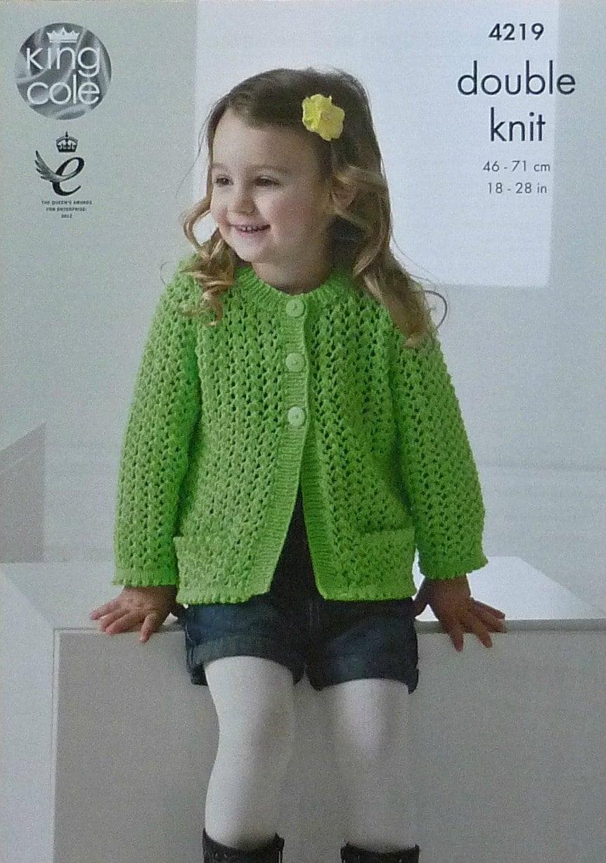 Girls Knitting Pattern K4219 Childrens Long Sleeve Round ...