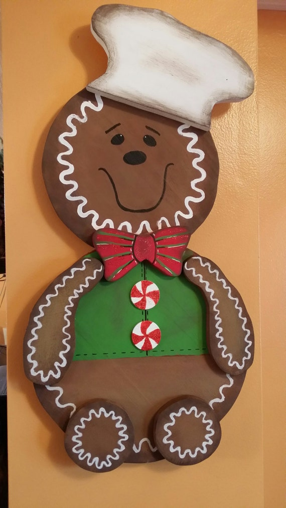 Large GINGERBREAD BAKING MAN Free Ship
