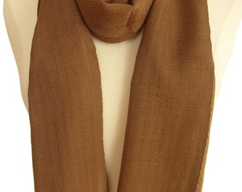 Light weight woven wool scarf - Taupe