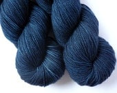 Hand Dyed Yarn - Merino / Cashmere / Nylon Sock Weight - Ausable Sock in Midnight Colorway