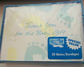 Heartline Thank You Notes For Baby Gift