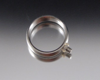 Stainless steel changeable ring - Size 5.25 - CLEARANCE