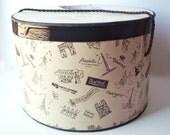 Hat Box, Shabby Chic Vintage 1950's Paris Albouy Simone Gange Eiffel Tower