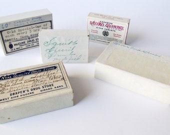 Vintage Prescription Medicine Boxes