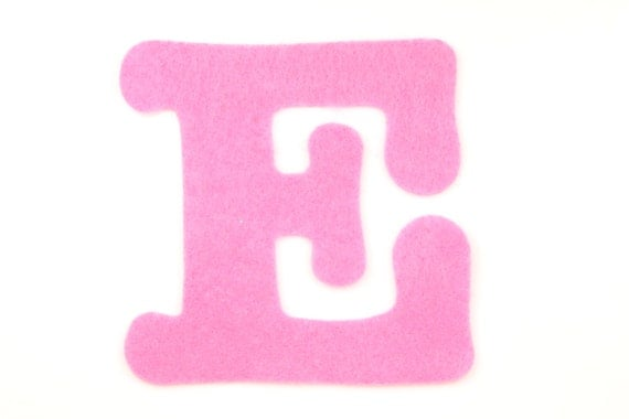 Felt letter e choose color felt letters felt decorations for Felt letter sign