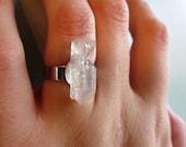 Crystal Quartz Adjustable Ring