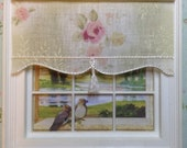 12th scale blind for dollshouse LARGE pastel ROSE with tassel pull for doll house